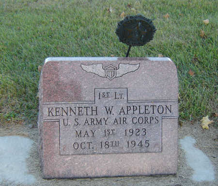APPLETON, KENNETH W. - Delaware County, Iowa | KENNETH W. APPLETON