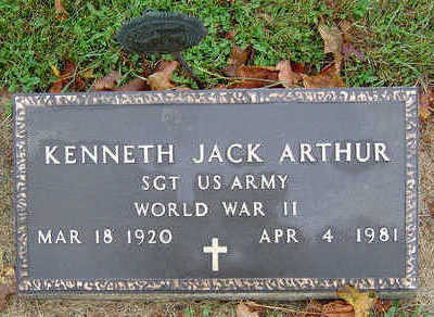 ARTHUR, KENNETH JACK - Delaware County, Iowa   KENNETH JACK ARTHUR