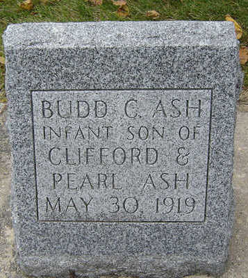 ASH, BUDD C. - Delaware County, Iowa   BUDD C. ASH