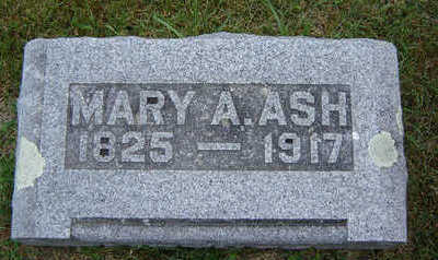 ASH, MARY A. - Delaware County, Iowa | MARY A. ASH
