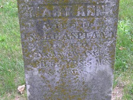 ASPLAND, MARY ANN - Delaware County, Iowa | MARY ANN ASPLAND