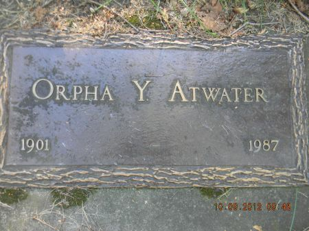 ATWATER, ORPHA Y. - Delaware County, Iowa | ORPHA Y. ATWATER