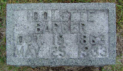 BARGER, IDOLETTE - Delaware County, Iowa   IDOLETTE BARGER