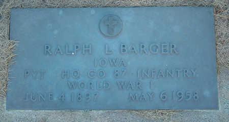BARGER, RALPH LOD - Delaware County, Iowa | RALPH LOD BARGER