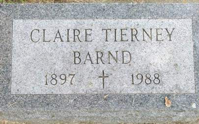 TIERNEY BARND, CLAIRE - Delaware County, Iowa | CLAIRE TIERNEY BARND