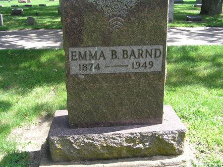 BARND, EMMA B. - Delaware County, Iowa   EMMA B. BARND