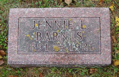 BARNES, JENNIE L. - Delaware County, Iowa   JENNIE L. BARNES