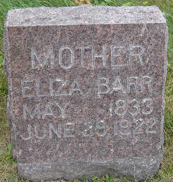 BARR, ELIZA - Delaware County, Iowa | ELIZA BARR