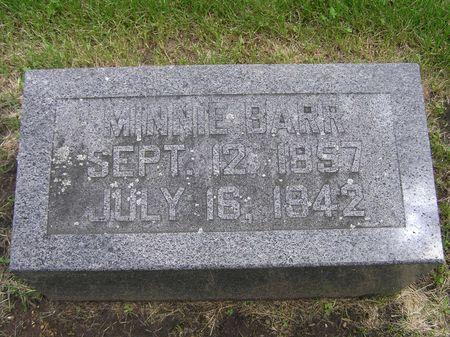 BARR, MINNIE - Delaware County, Iowa | MINNIE BARR
