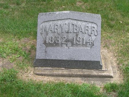 BARR, MARY J. - Delaware County, Iowa | MARY J. BARR