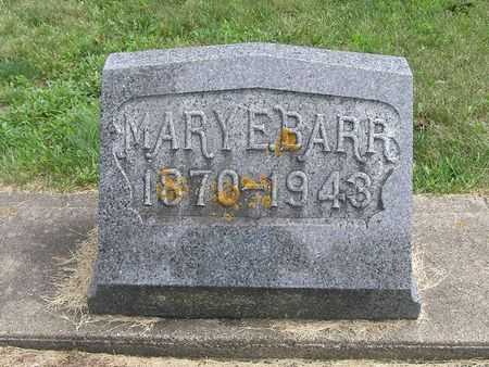 BARR, MARY E. - Delaware County, Iowa | MARY E. BARR