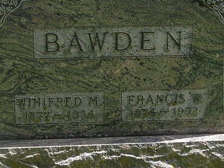 BAWDEN, FRANCIS W. - Delaware County, Iowa | FRANCIS W. BAWDEN