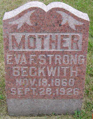 STRONG BECKWITH, EVA F. - Delaware County, Iowa | EVA F. STRONG BECKWITH