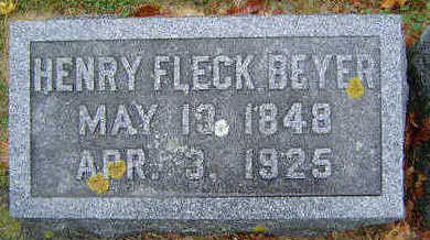 BEYER, HENRY FLECK - Delaware County, Iowa | HENRY FLECK BEYER