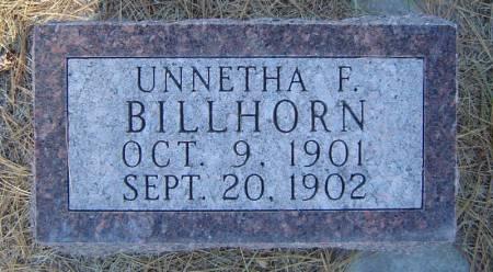 BILLHORN, UNNETHA F. - Delaware County, Iowa   UNNETHA F. BILLHORN