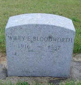 BLOODWORTH, WILEY E. - Delaware County, Iowa | WILEY E. BLOODWORTH