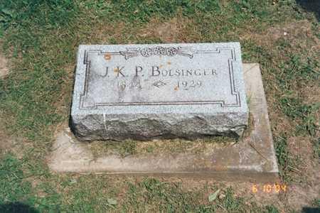 BOLSINGER, JAMES KNOX POLK - Delaware County, Iowa | JAMES KNOX POLK BOLSINGER