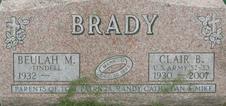 BRADY, CLAIR BERNARD - Delaware County, Iowa | CLAIR BERNARD BRADY