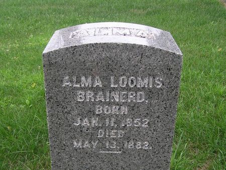 LOOMIS BRAINERD, ALMA - Delaware County, Iowa   ALMA LOOMIS BRAINERD