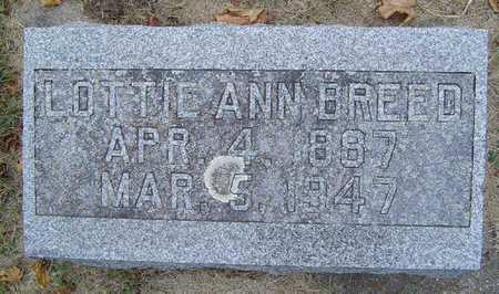 BREED, LOTTIE ANN - Delaware County, Iowa   LOTTIE ANN BREED