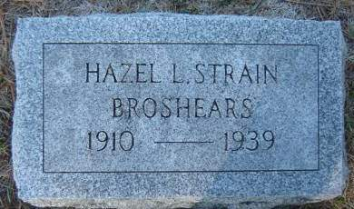 STRAIN BROSHEARS, HAZEL L. - Delaware County, Iowa   HAZEL L. STRAIN BROSHEARS
