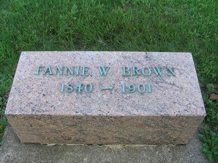 BROWN, FANNIE W. - Delaware County, Iowa | FANNIE W. BROWN