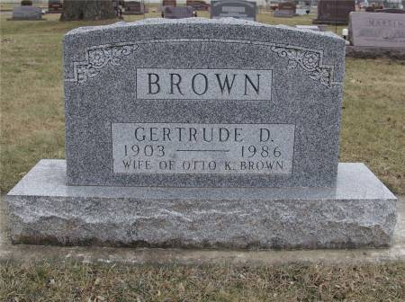 BOONE BROWN, GERTRUDE D. - Delaware County, Iowa | GERTRUDE D. BOONE BROWN