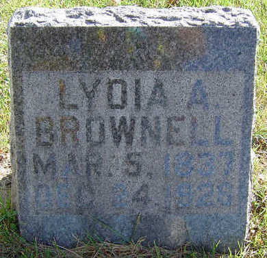 BROWNELL, LYDIA - Delaware County, Iowa | LYDIA BROWNELL