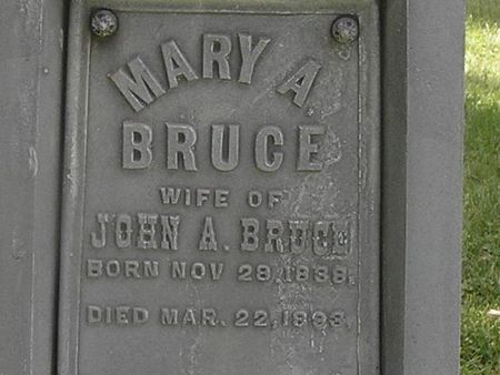 BRUCE, MARY A. - Delaware County, Iowa | MARY A. BRUCE