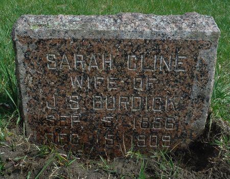 CLINE BURDICK, SARAH - Delaware County, Iowa | SARAH CLINE BURDICK