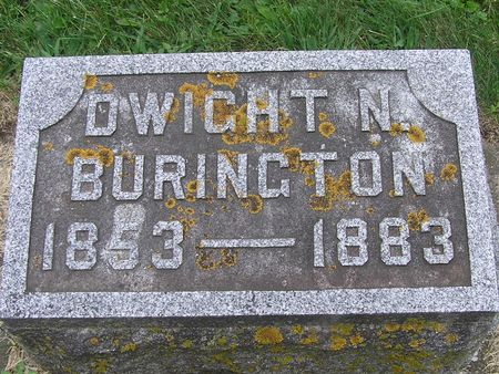 BURINGTON, DWIGHT N. - Delaware County, Iowa   DWIGHT N. BURINGTON