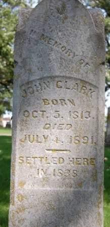 CLARK, JOHN - Delaware County, Iowa | JOHN CLARK