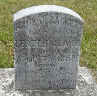 SACKETT CLARK, MARY J. - Delaware County, Iowa | MARY J. SACKETT CLARK