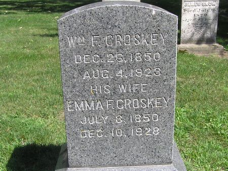 CROSKEY, WM. F. - Delaware County, Iowa | WM. F. CROSKEY