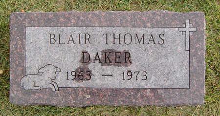 DAKER, BLAIR THOMAS - Delaware County, Iowa   BLAIR THOMAS DAKER
