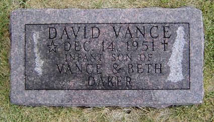 DAKER, DAVID VANCE - Delaware County, Iowa | DAVID VANCE DAKER