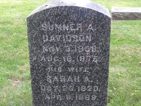 DAVIDSON, SARAH A. - Delaware County, Iowa   SARAH A. DAVIDSON
