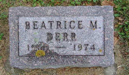 BURGIN DERR, BEATRICE M. - Delaware County, Iowa | BEATRICE M. BURGIN DERR