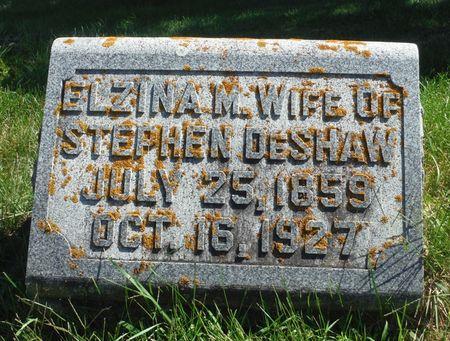 DESHAW, ELZINA M. - Delaware County, Iowa | ELZINA M. DESHAW