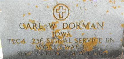 DORMAN, CARL W. - Delaware County, Iowa   CARL W. DORMAN