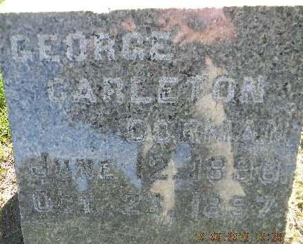 DORMAN, GEORGE CARLETON - Delaware County, Iowa   GEORGE CARLETON DORMAN