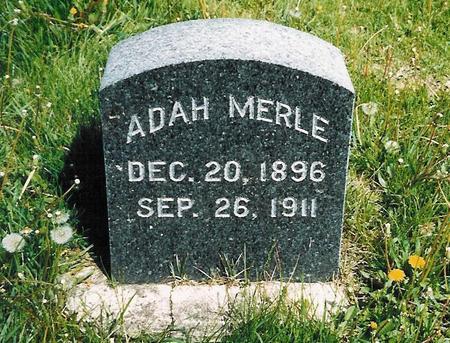 DUNN, ADAH MERLE - Delaware County, Iowa   ADAH MERLE DUNN