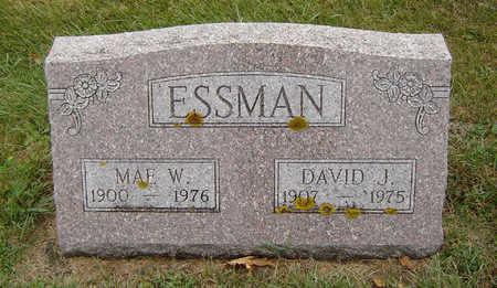 ASH ESSMAN, MAE W. - Delaware County, Iowa | MAE W. ASH ESSMAN
