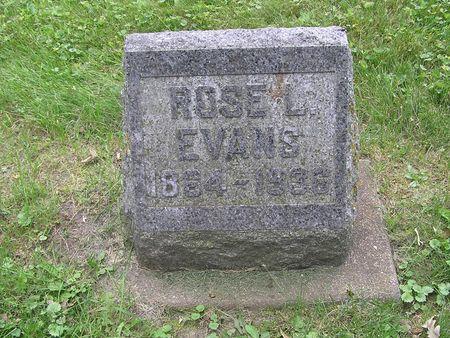 EVANS, ROSE L. - Delaware County, Iowa   ROSE L. EVANS
