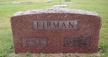 FIRMAN, CLAUDE E. - Delaware County, Iowa | CLAUDE E. FIRMAN
