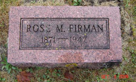 FIRMAN, ROSE M. - Delaware County, Iowa | ROSE M. FIRMAN