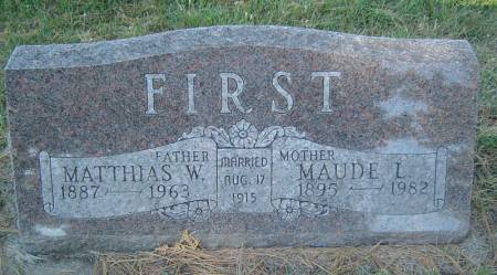 FIRST, MATTHIAS W. - Delaware County, Iowa | MATTHIAS W. FIRST