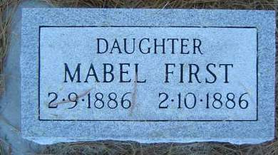 FIRST, MABEL - Delaware County, Iowa | MABEL FIRST
