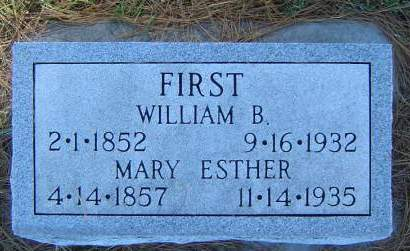 MITCHELL FIRST, MARY ESTHER - Delaware County, Iowa | MARY ESTHER MITCHELL FIRST