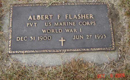 FLASHER, ALBERT F. - Delaware County, Iowa   ALBERT F. FLASHER